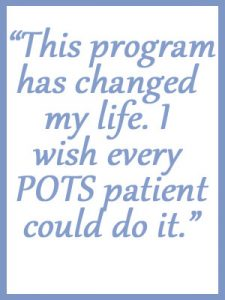 POTS Treatment Center Review - Testimonial Quote - This program has changed my life